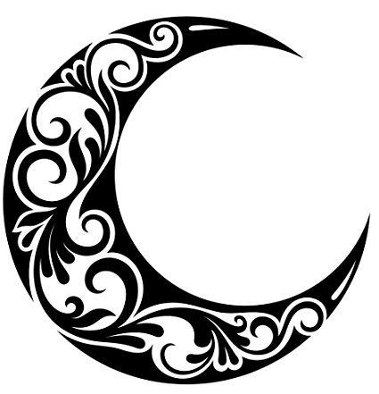 Clipart moon pretty. Amazon com black and