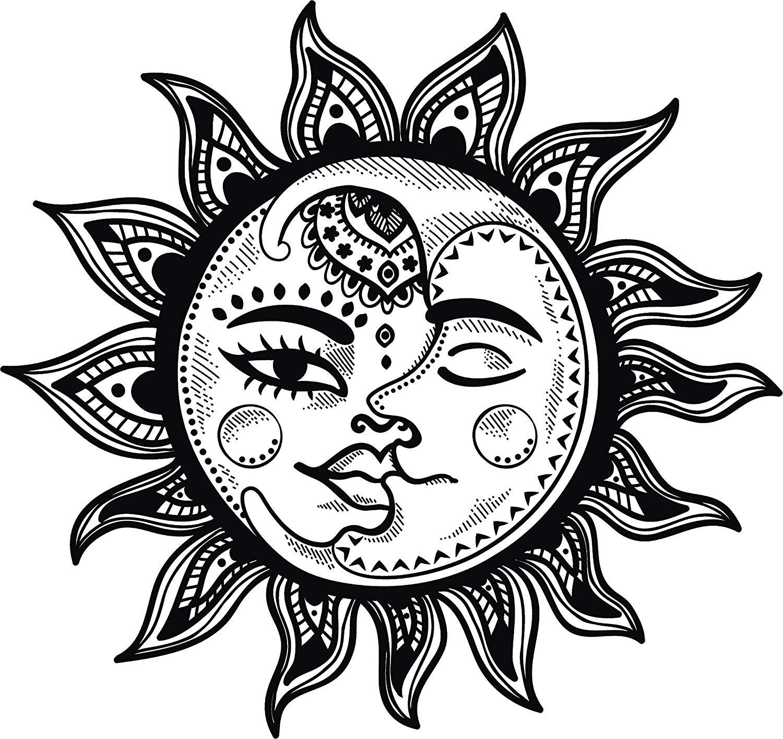 Black and white boho. Clipart moon pretty