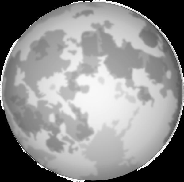 Bright full moon clip. Night clipart lunar