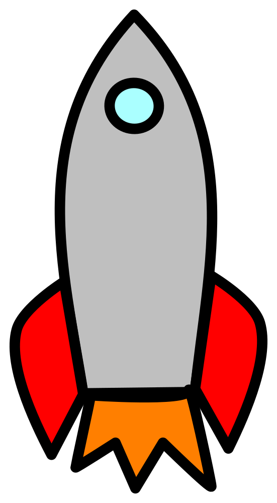 Spaceship clipart water bottle rocket. Onlinelabels clip art big