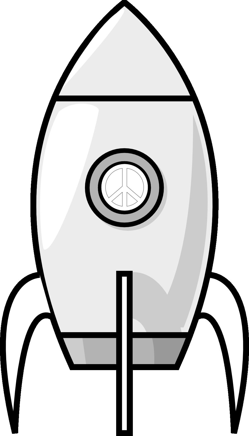 Electronics clipart drawing. A moon rocket black