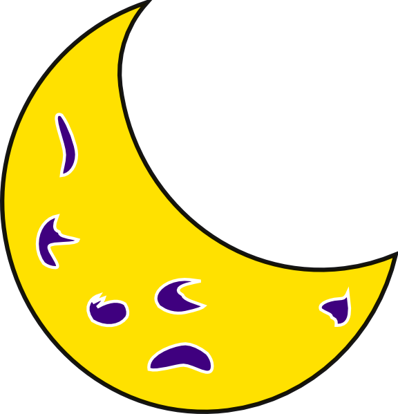 Clipart moon route. Yellow clip art at