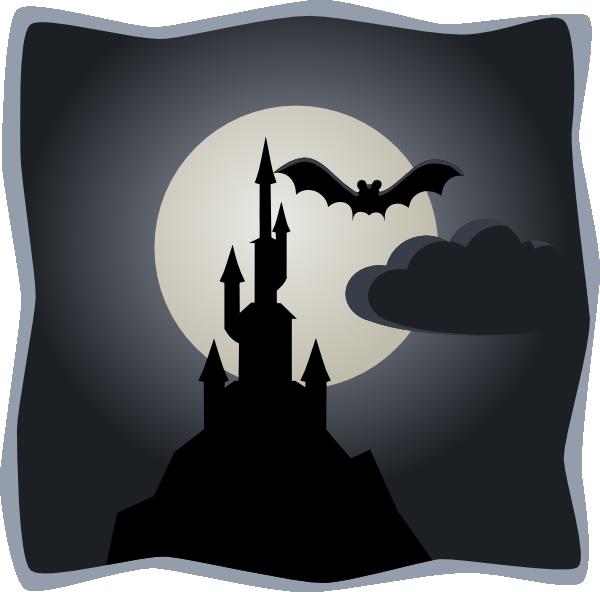 Moon clipart creepy. Castle clip art at