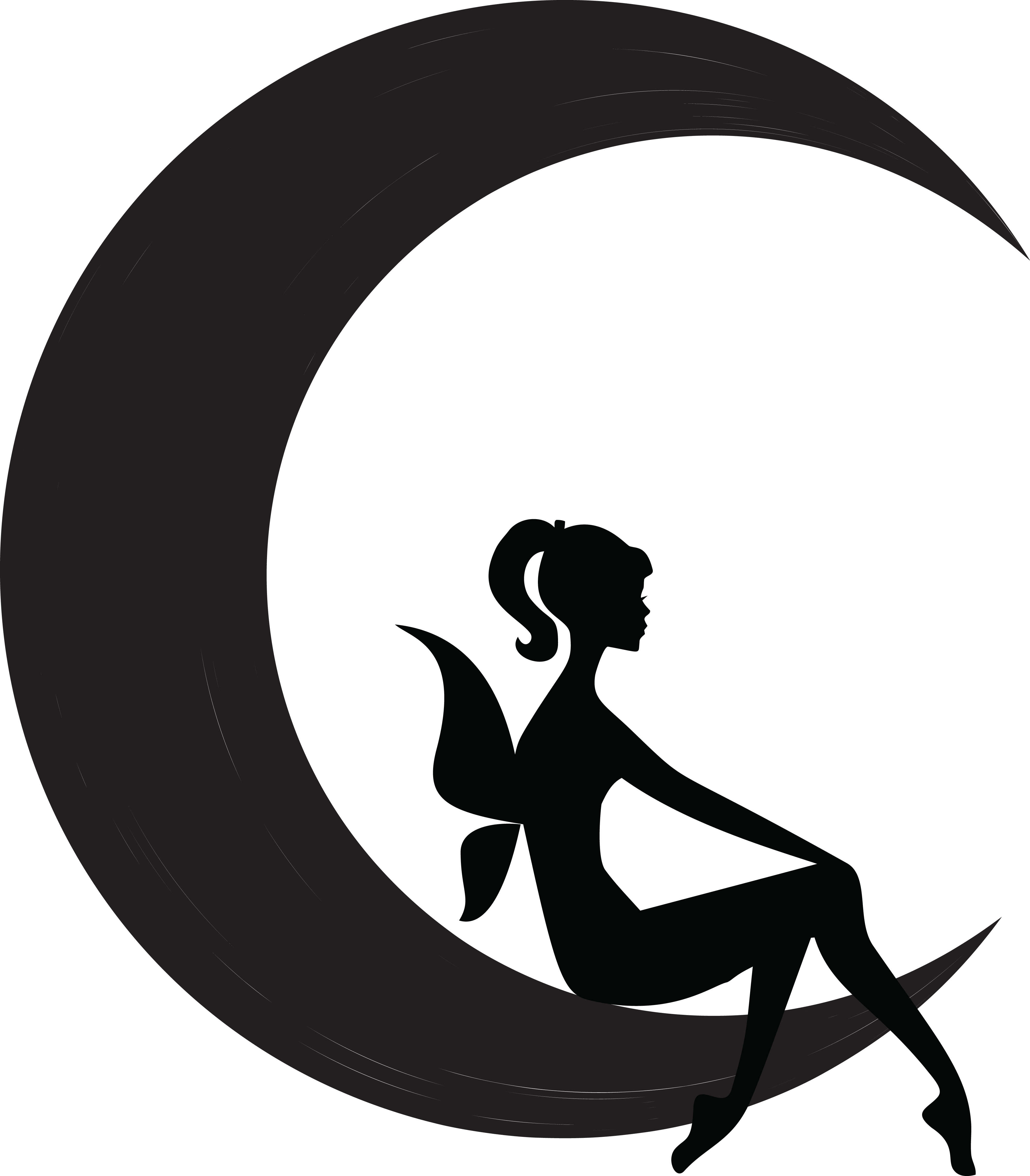 Fairies clipart outline. Fairy moon silhouette flower