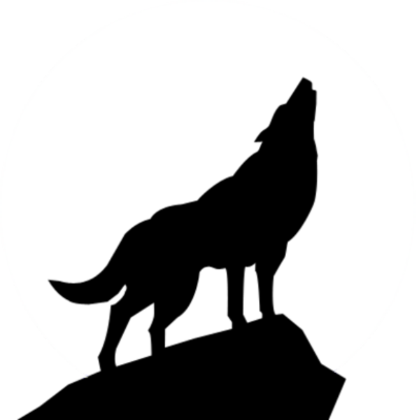 Wolf clipart werewolf. Howling silhouette psd free