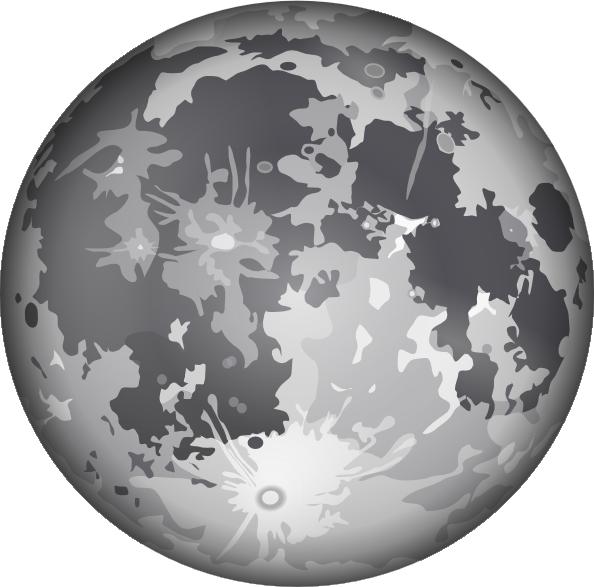 The moon clip art. Planet clipart grey