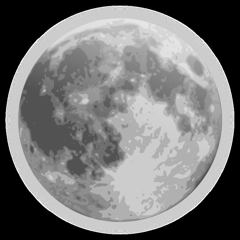Weather icon full medium. Clipart moon transparent background