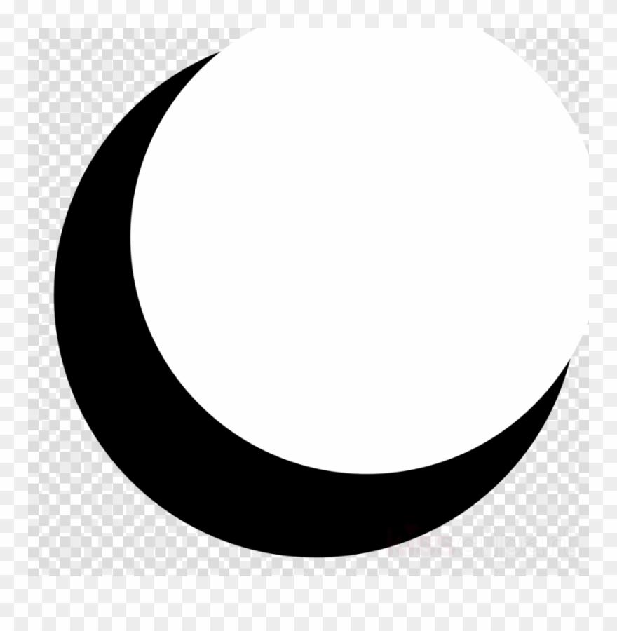 Half png crescent clip. Clipart moon transparent background