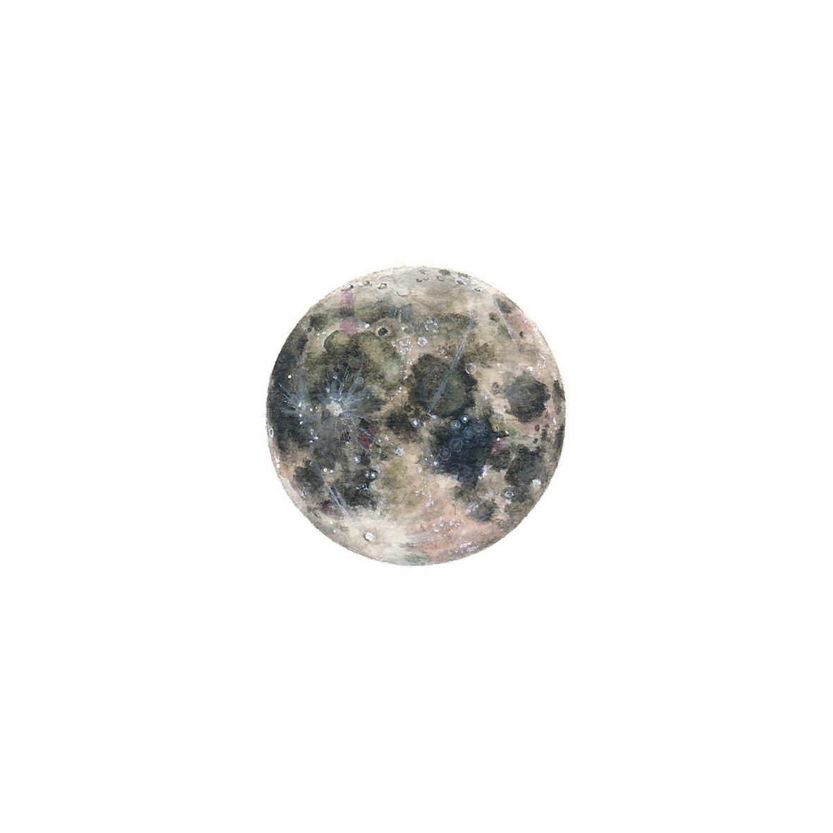 Clipart moon watercolor. Tiny painting lorraine loots