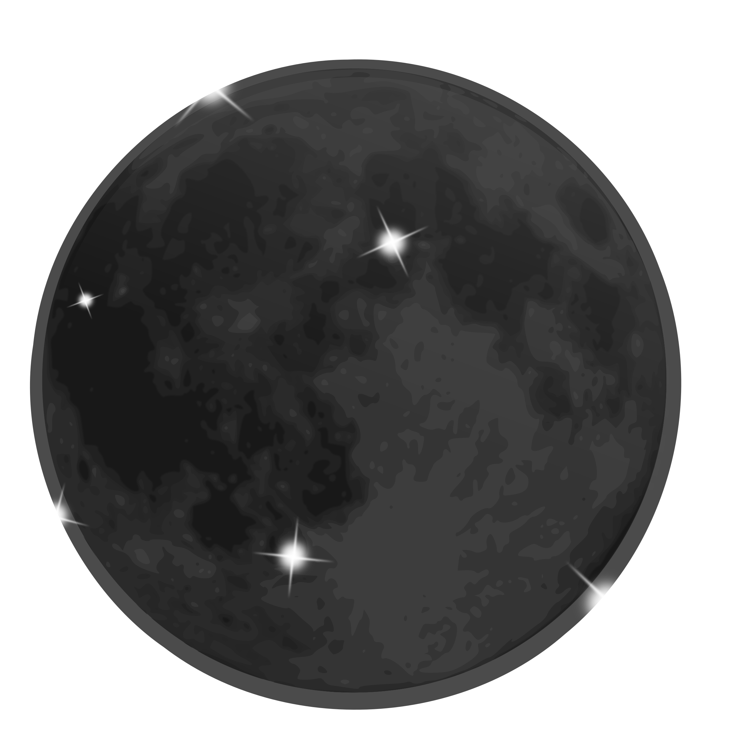 Icon new big image. Moon clipart weather