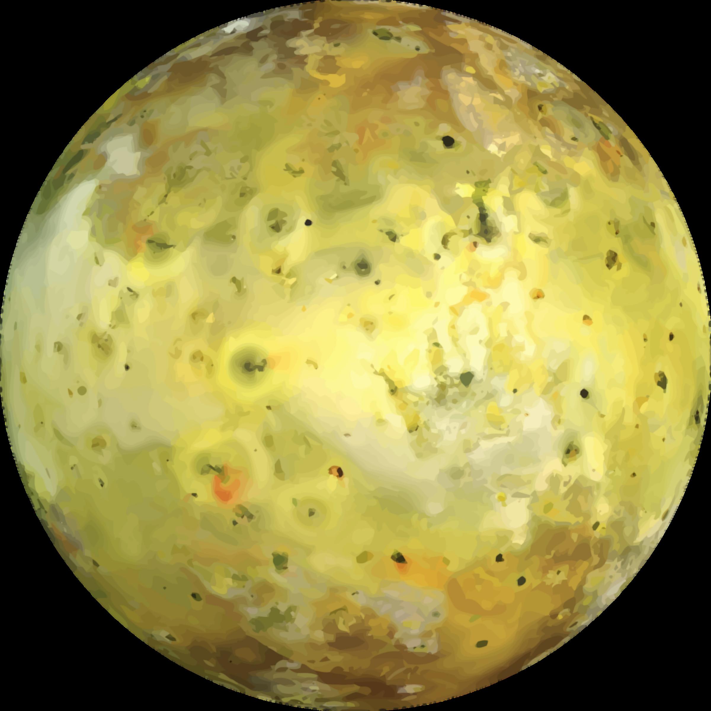 Clipart moon yellow. Jupiter s io big