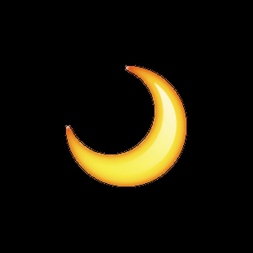Luna overlay tumblr orange. Clipart moon yellow