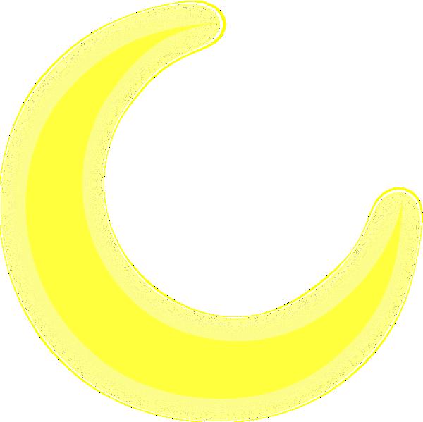 Clipart moon yellow. Crescent clip art at