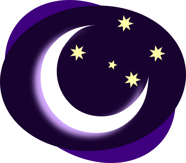 Moon clip art free. Night clipart forest