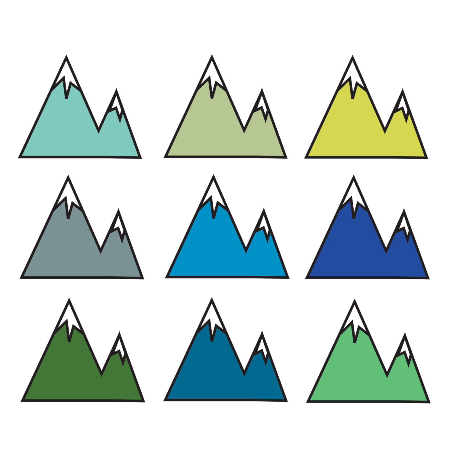 Mountain clip art free. Clipart mountains simple