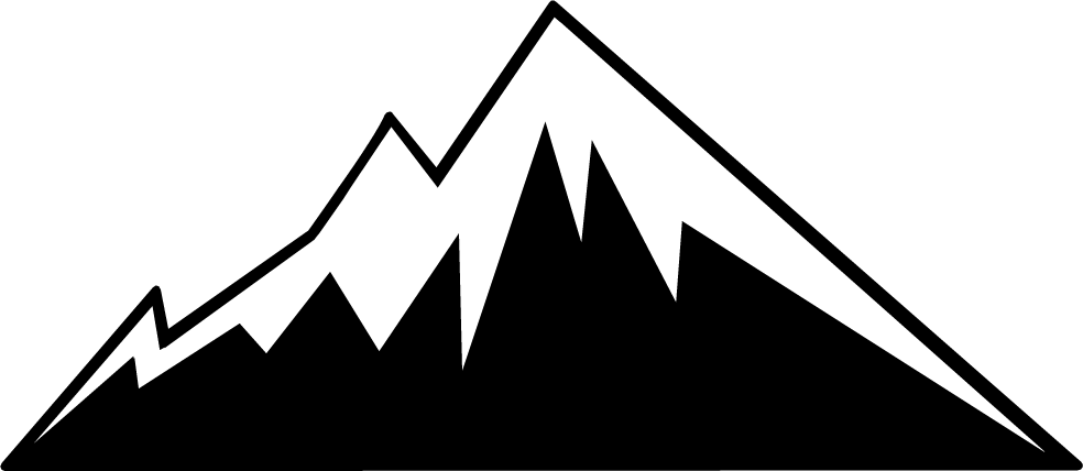Mountain hd stencils pinterest. Mountains clipart