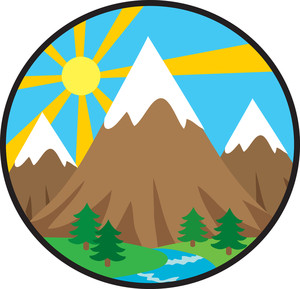 Mountain clip art free. Clipart mountains