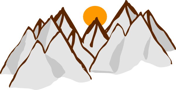 Mountain clipart mountain chain. Free animated cliparts download