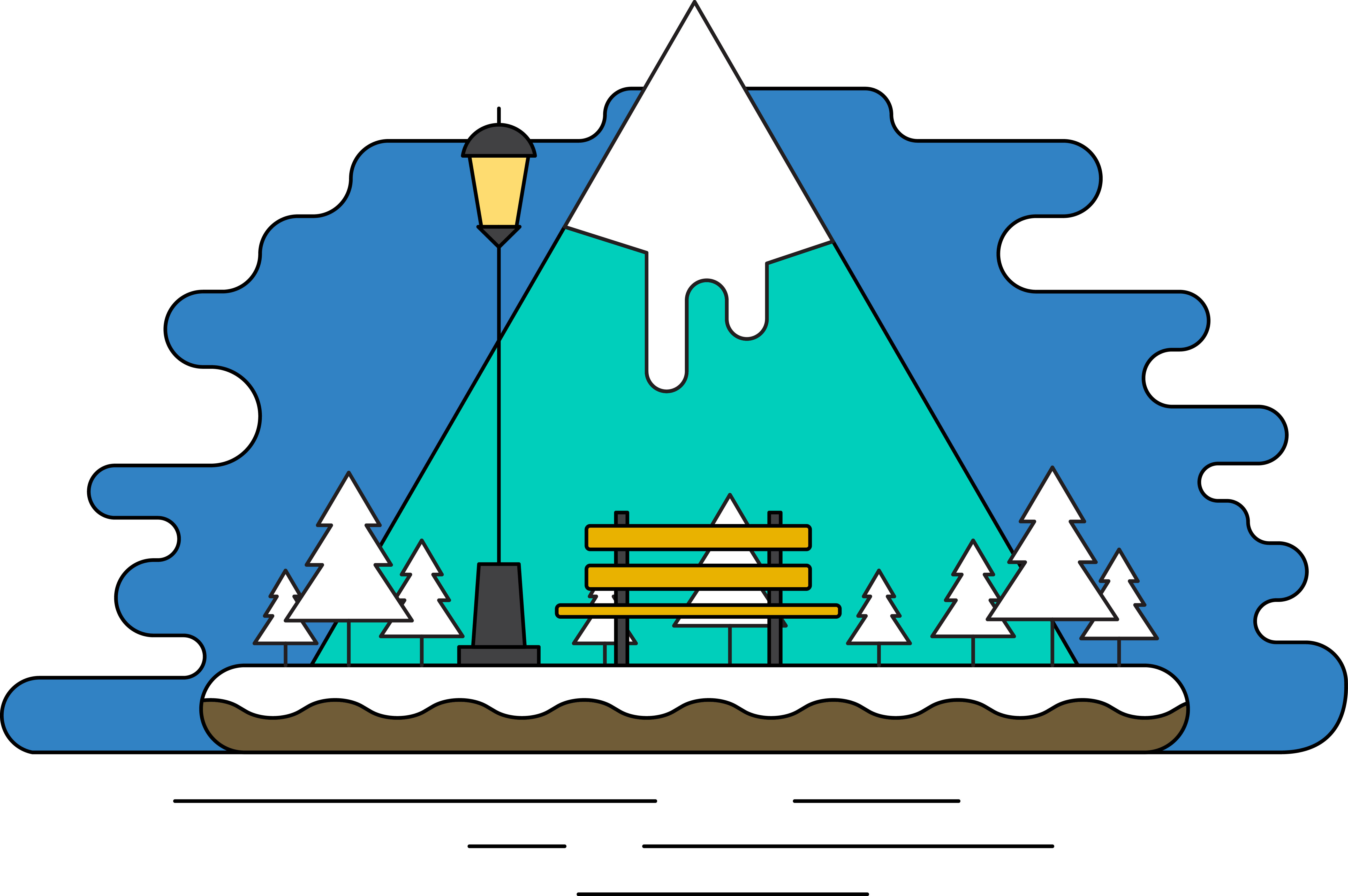 Clipart mountain badge. Snow silhouette at getdrawings