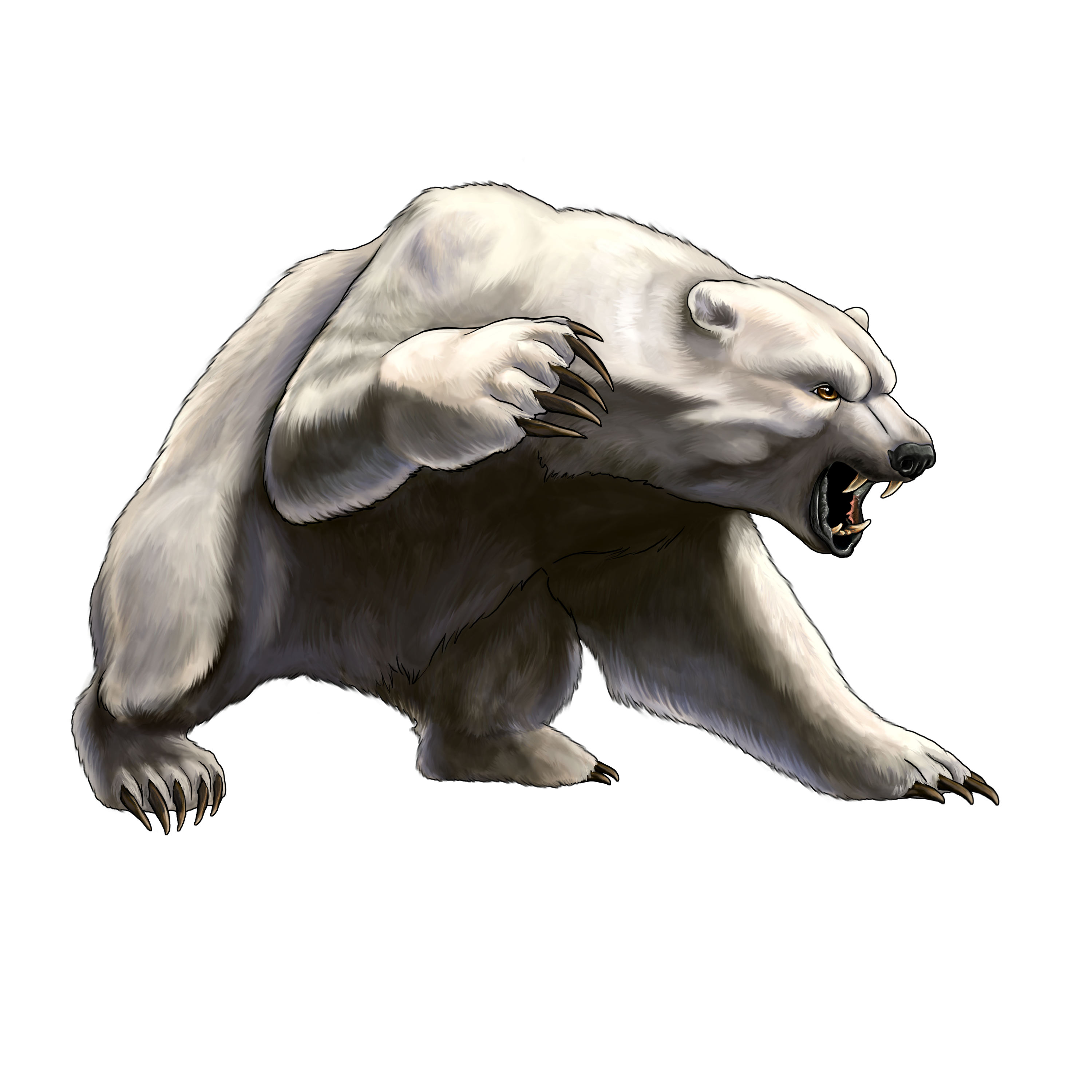 Angry white png free. Fishing clipart polar bear