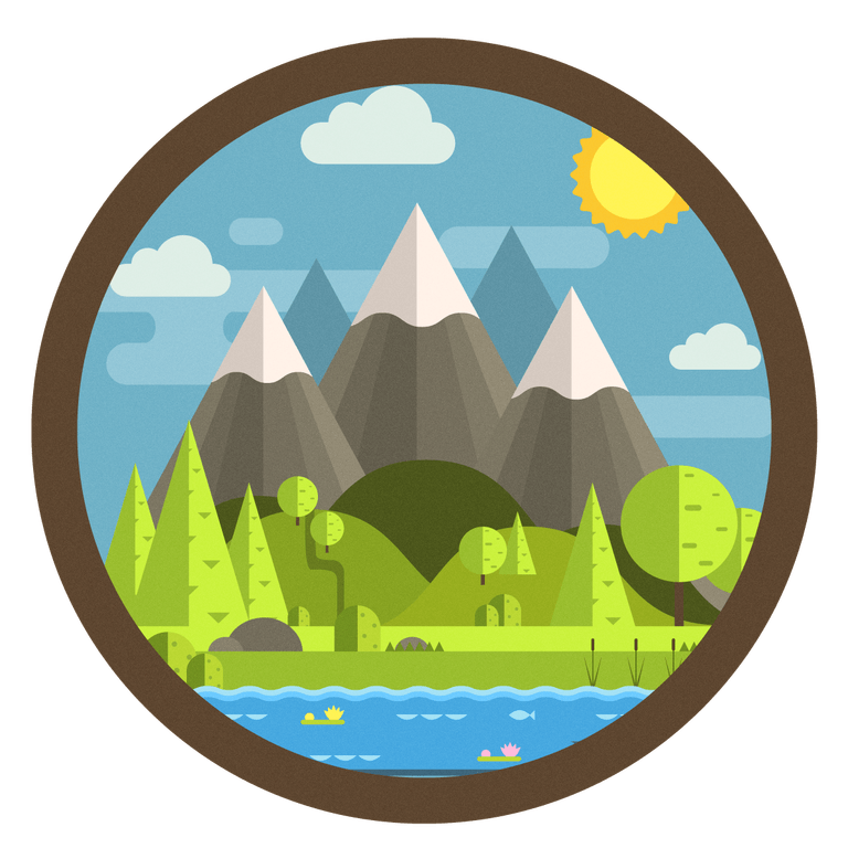 Camping canteen. Mountain clipart campsite transparent