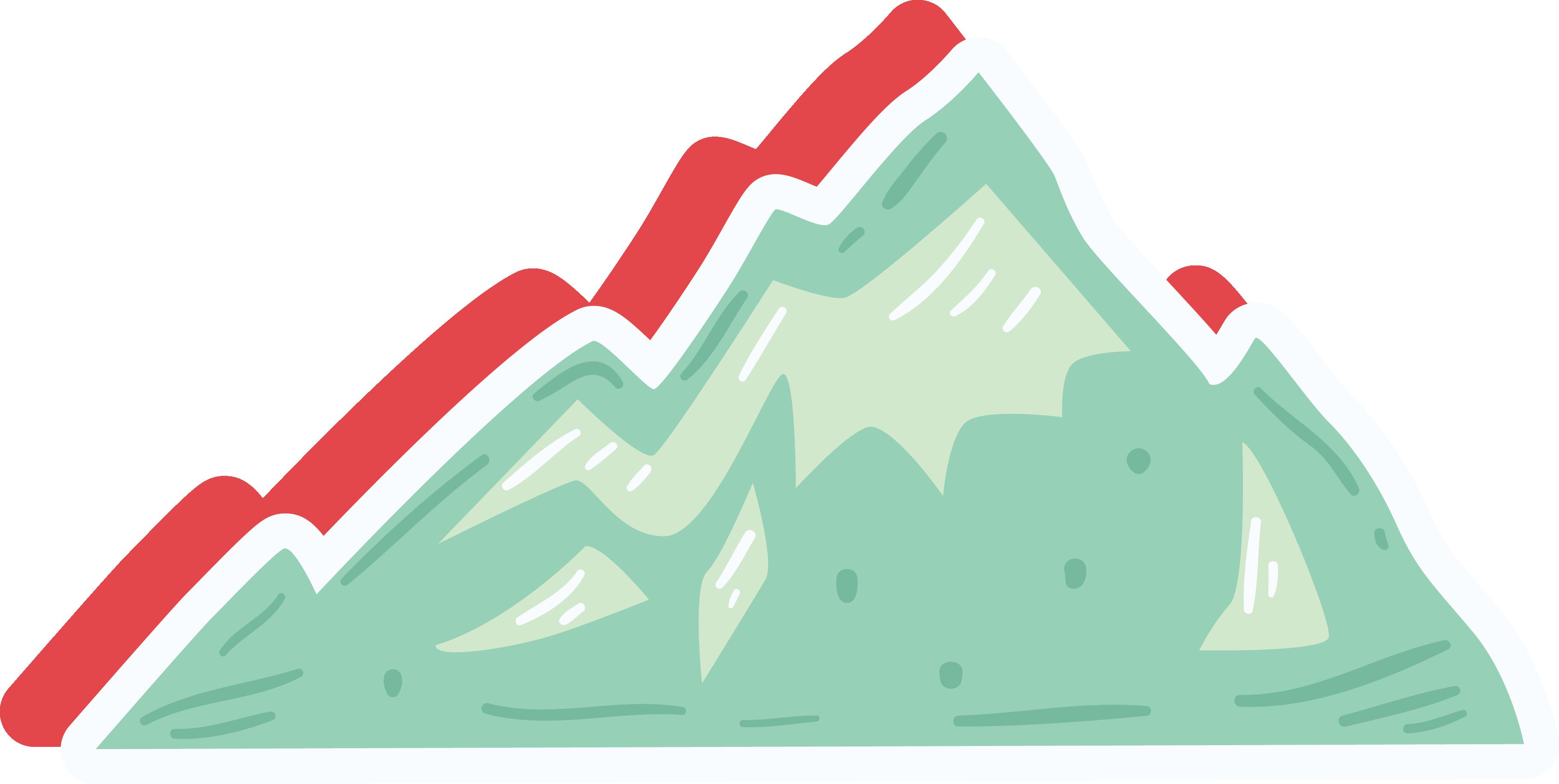 Clipart mountain cartoon. Clip art green icon
