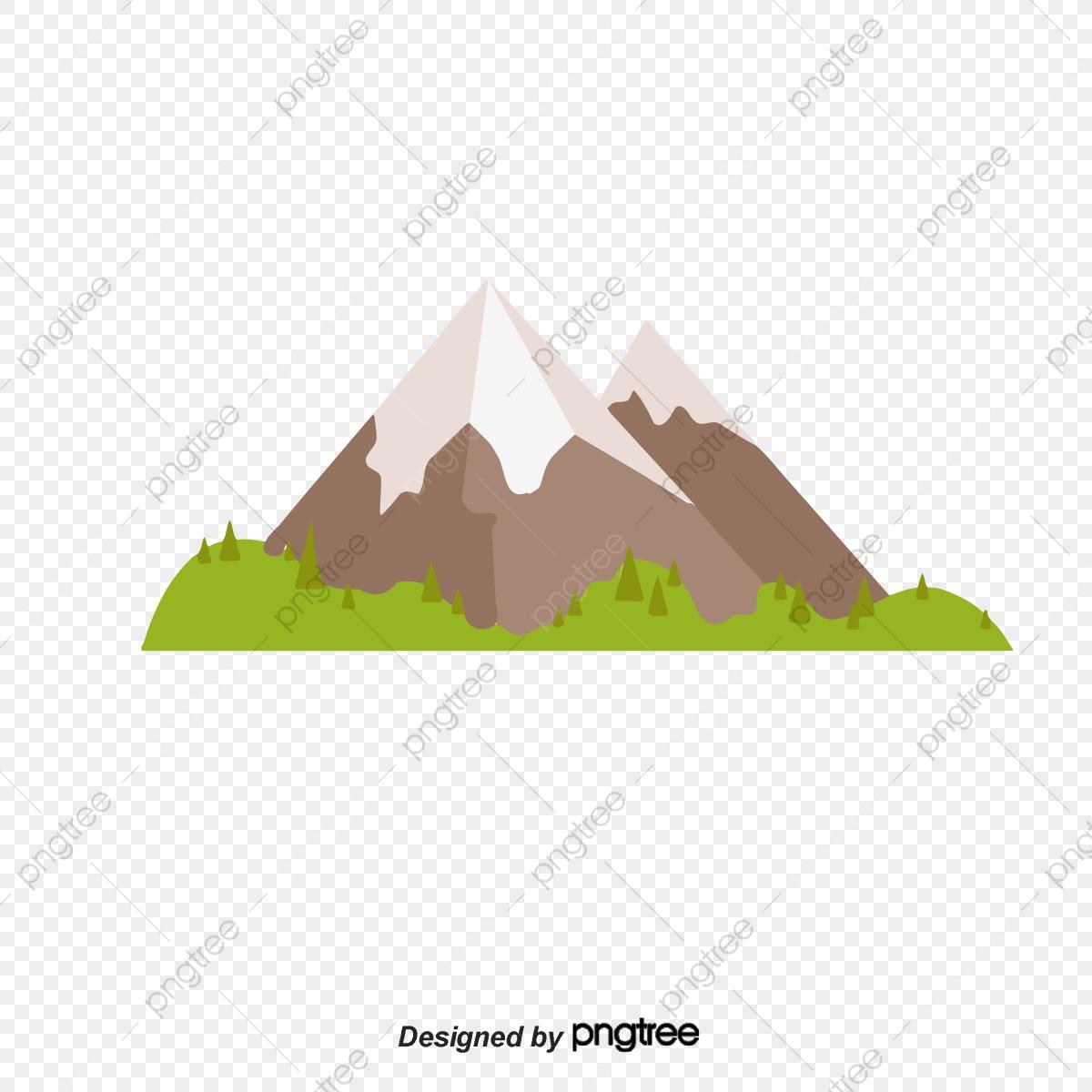 Snow . Clipart mountain cartoon