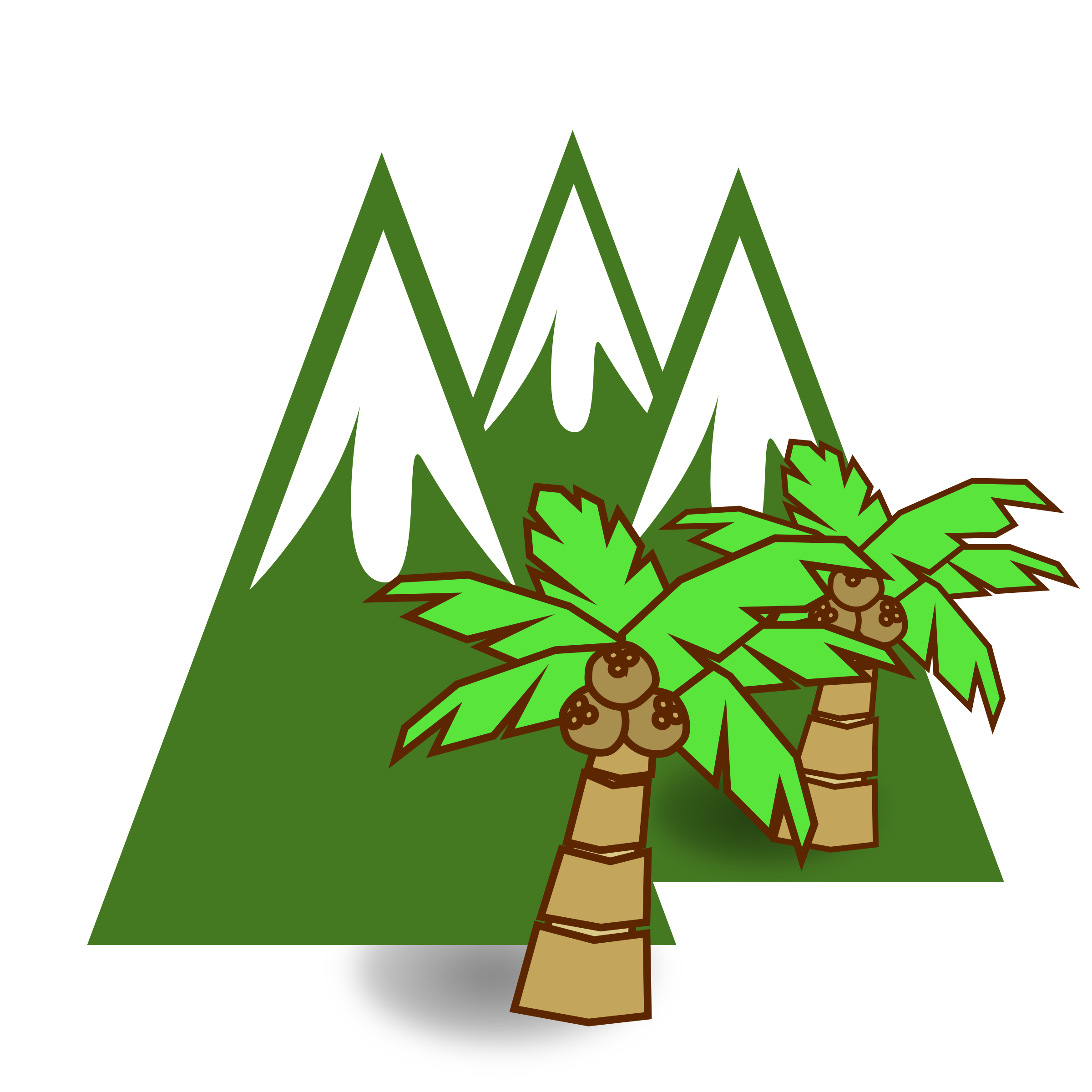 Jungle icons png free. Clipart mountains river