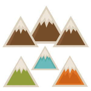 Pin on cards . Clipart mountain cute