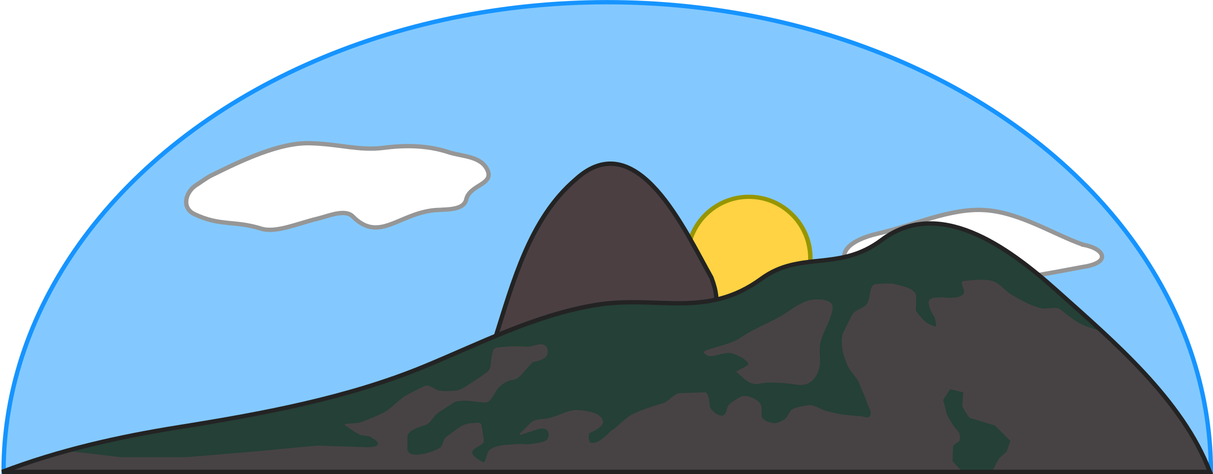 Clipart mountain cute. Big hill cliparts zone
