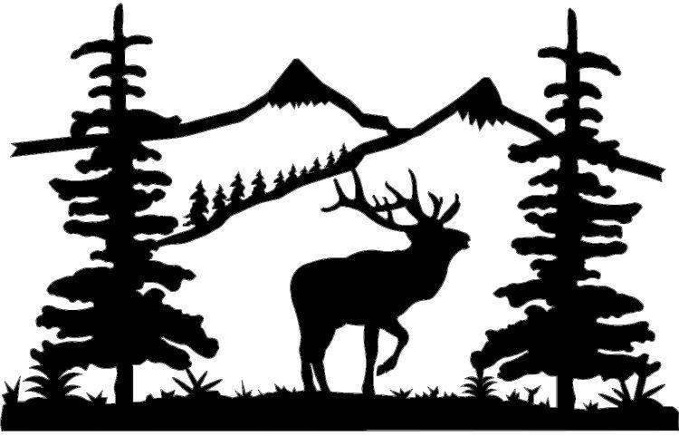 Pin by d jo. Elk clipart scene