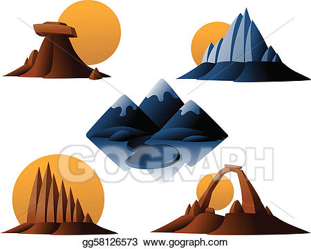 Clip art vector and. Mountain clipart desert