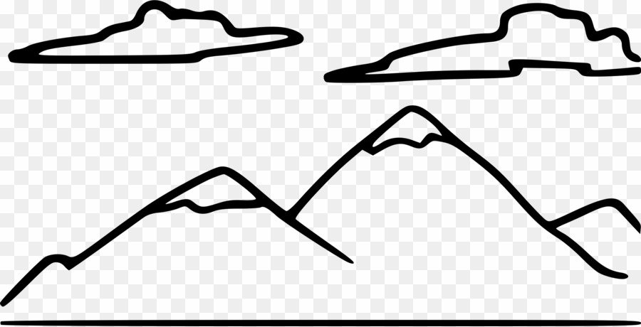 Black and white png. Clipart mountain drawing