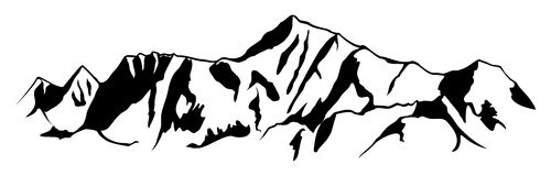 clipart mountain drawing