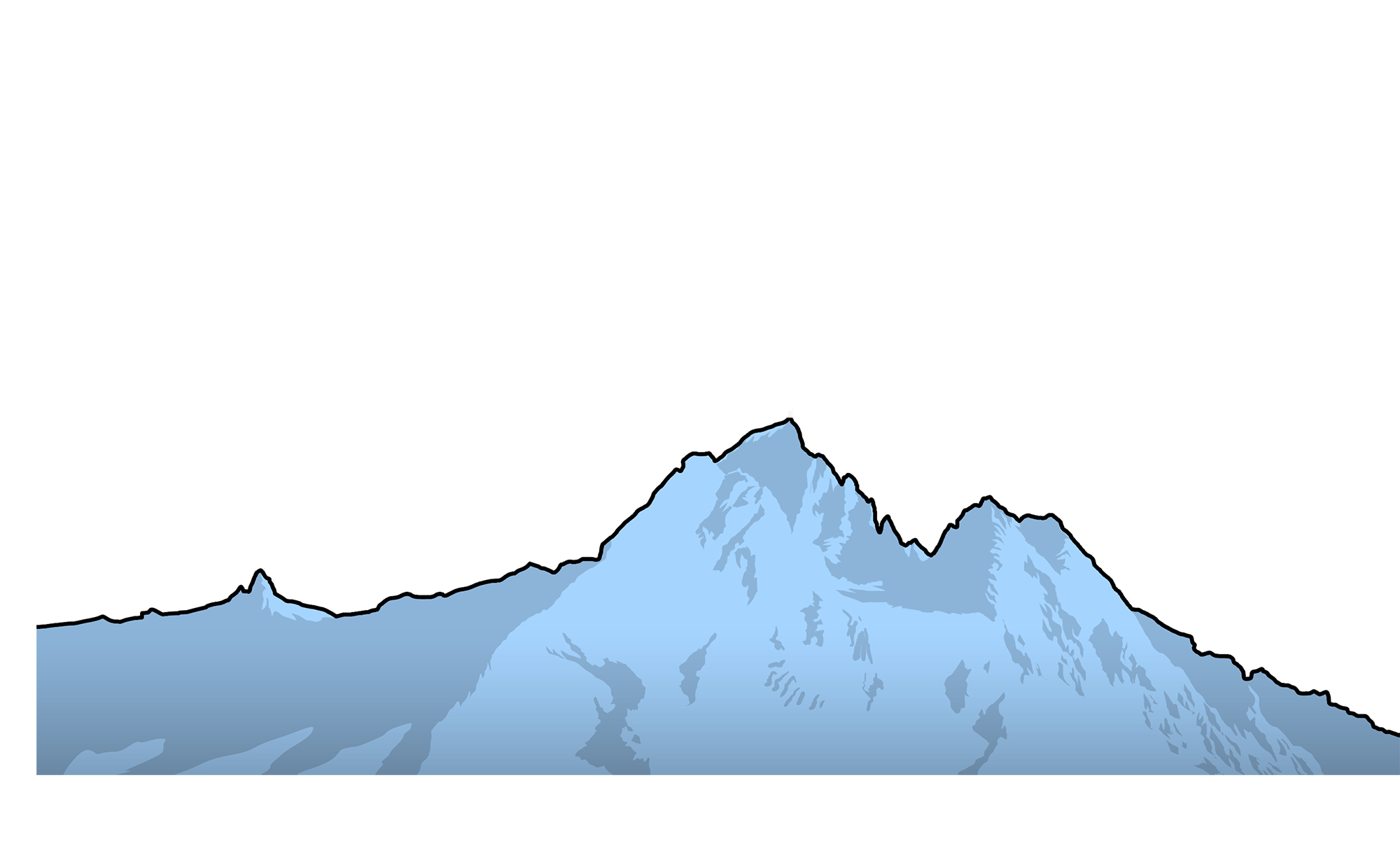clipart mountain everest
