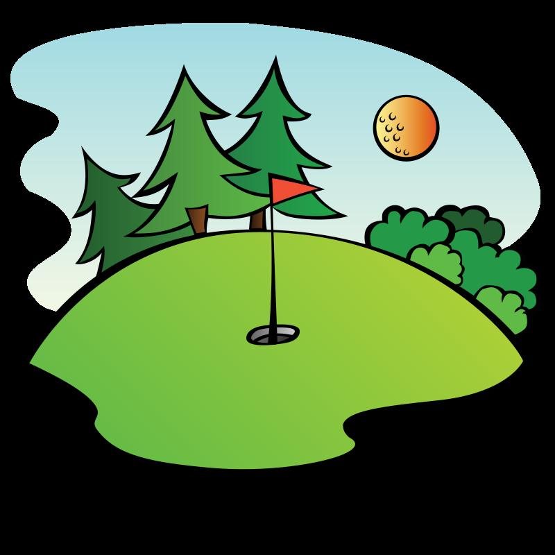 Green panda free images. Golf clipart golf field