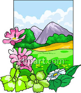 Clipart mountain flower. Free cliparts download images