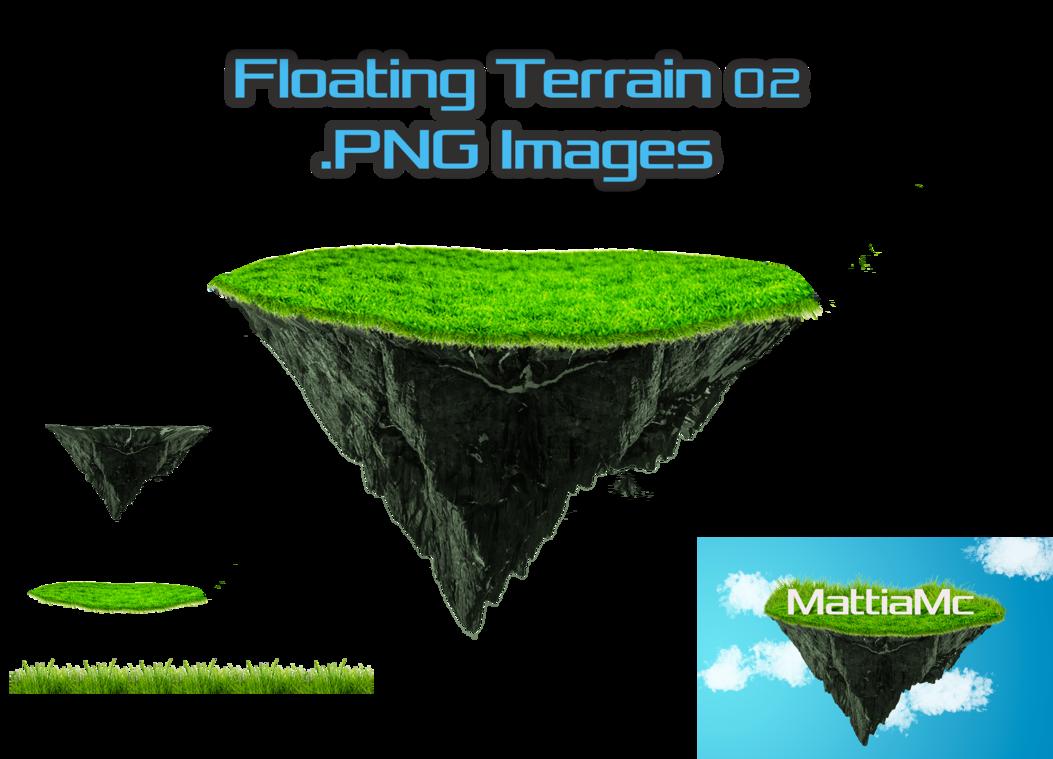 Floating terrain png bonus. Clipart mountain grass