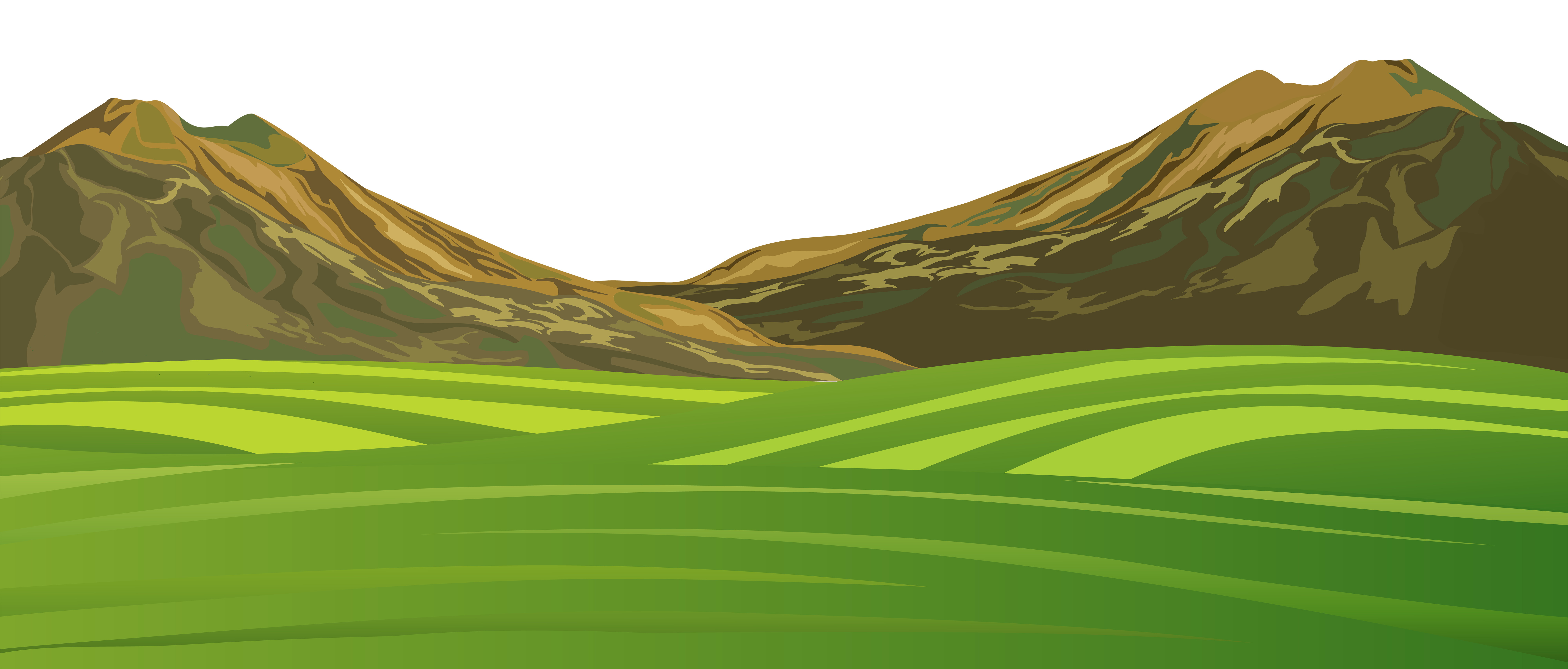 Clipart mountains ground. Mountain and meadow png