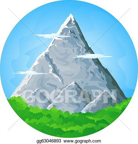 Clip art vector landscape. Clipart mountains high mountain