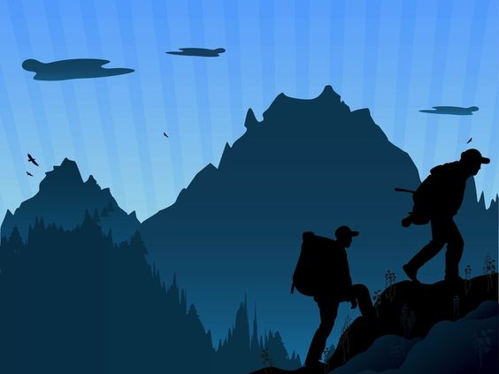 Free hiking cliparts download. Clipart mountain hike