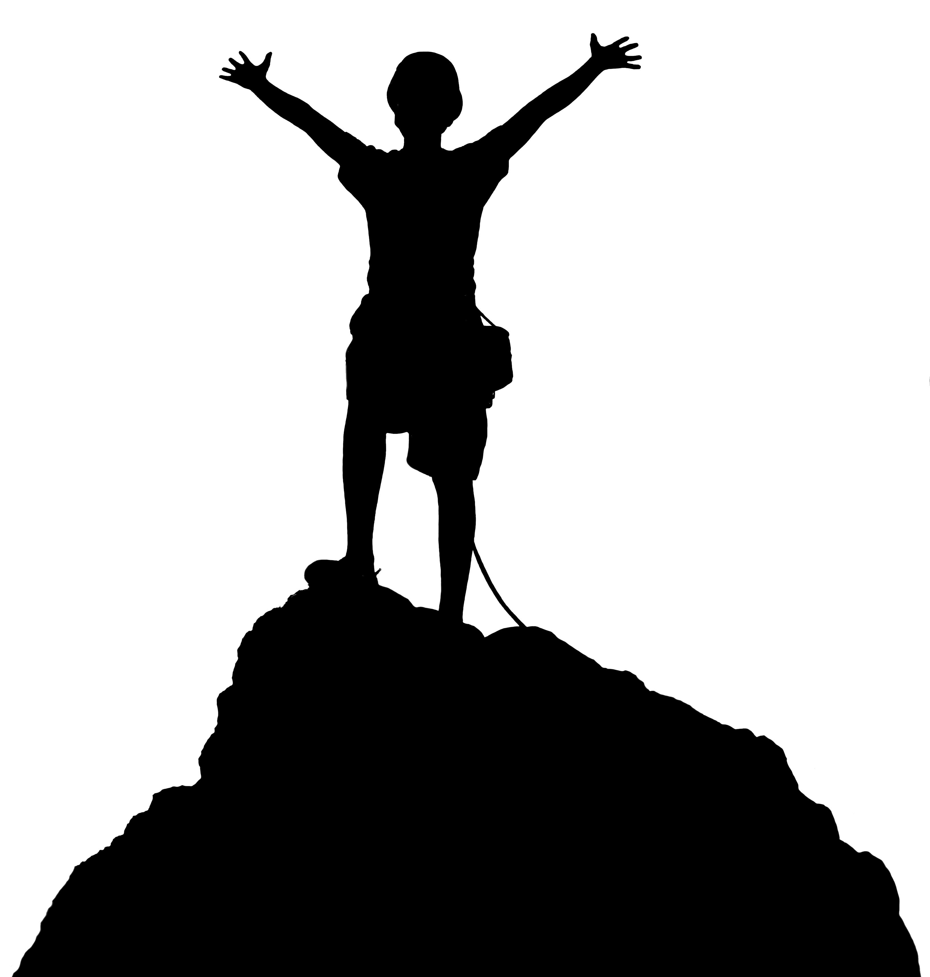 Hike clipart mountain climber. Hiking free download best