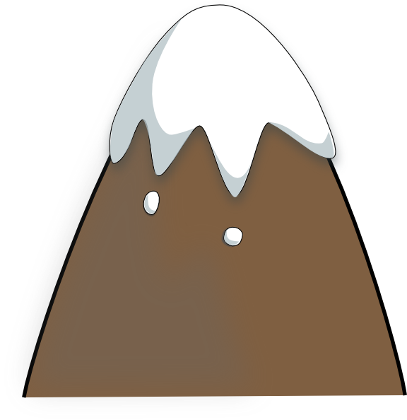 Clipart mountain hill. Brown clip art at