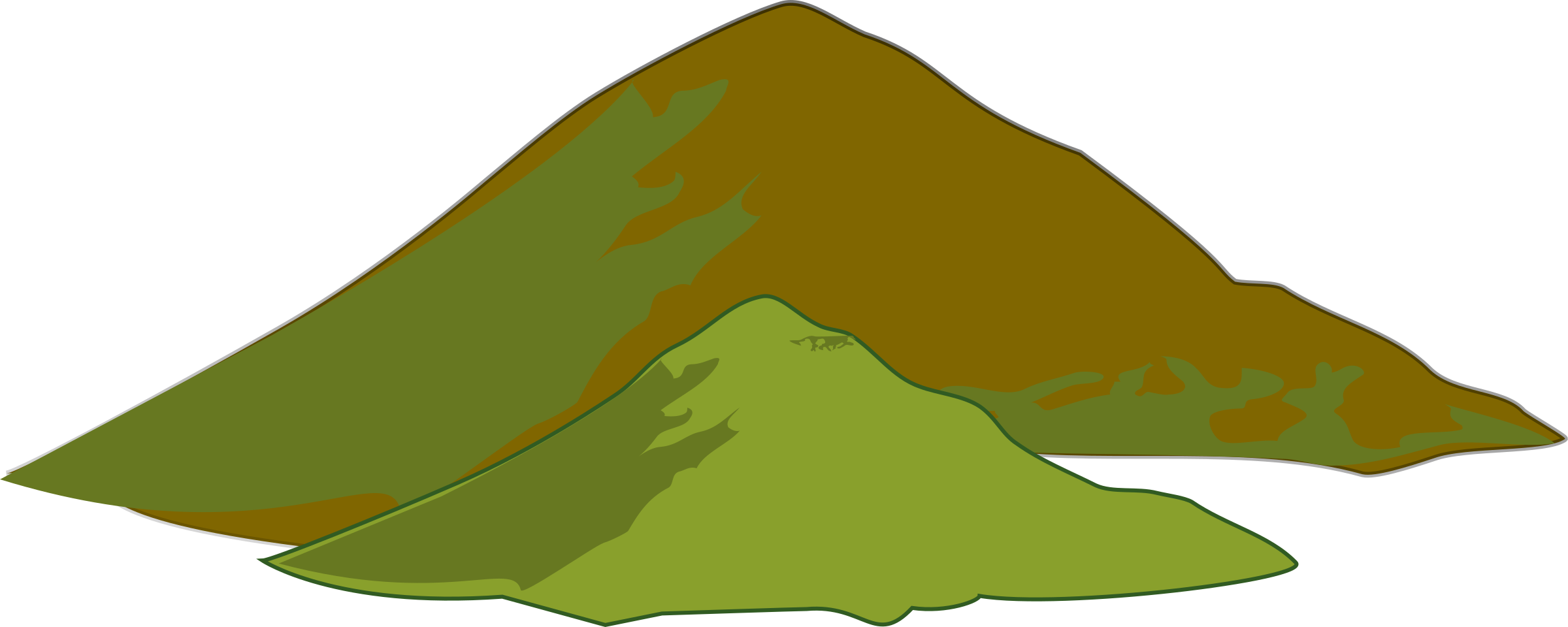 clipart mountain hill