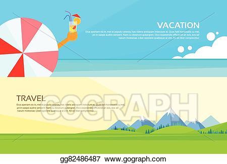 Mountains clipart holiday. Vector art umbrella cocktail