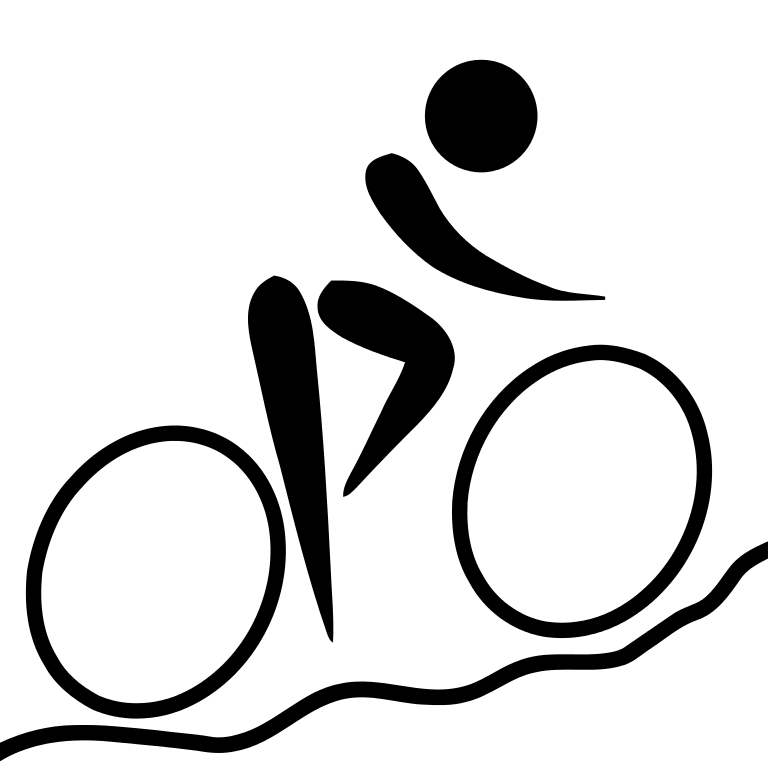 File cycling biking pictogram. Clipart mountain line drawing