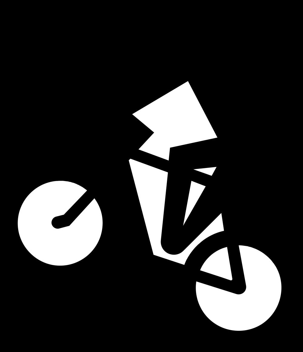 Clipart mountain line drawing. File ch zusatztafel bike