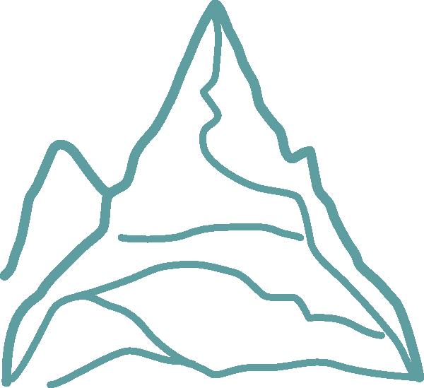 Clipart mountains mountain chain. Blue clip art at