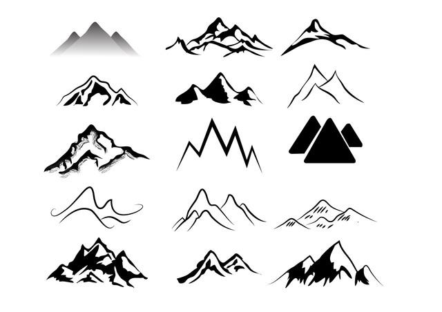 Mountains logo clip art. Clipart mountain mountain peak