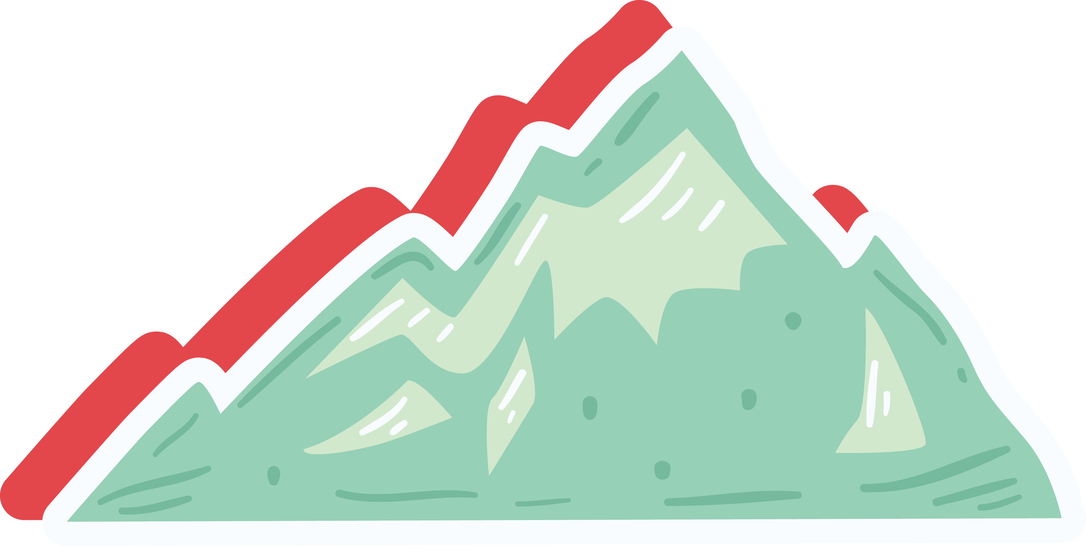 Clipart mountain mountain range. Cartoon clip art green